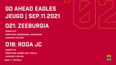 Wedstrijdprogramma Voetbalopleiding 11 09 2021 (o21+o18)